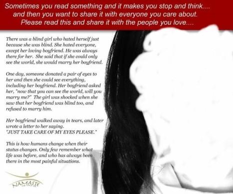 The Blind Girl Story
